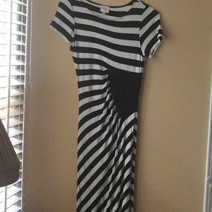 Black/white stripe maxi dress
